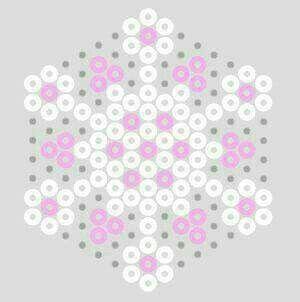 Posavasos hama beads - flor de cerezo
