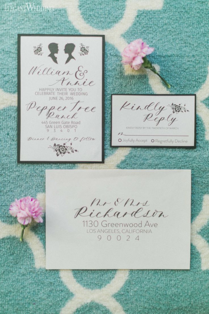 Spring Wedding Invitations, Calligraphy Wedding Stationery www.elegantwedding.ca