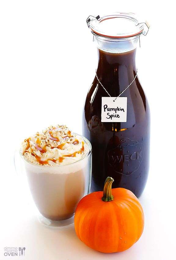 Pumpkin Spice Latte - Learn how to make homemade pumpkin spice lattes (and homemade pumpkin spice syrup/concentrate) with this simple recipe.