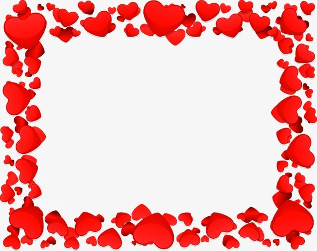 Love Border Love Heart Shaped Frame Png And Vector Love Png Tag Template Border