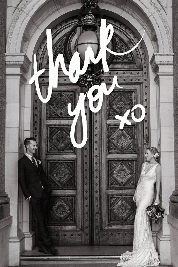Photo Thank You Cards with Brush Lettering | Wedding Thank You Card | Black & White Photos | Emma Wise Photography