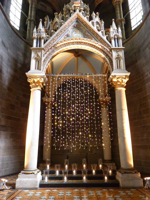 Planet Flowers: Mansfield Traquair / fairy light curtain / orchid curtain