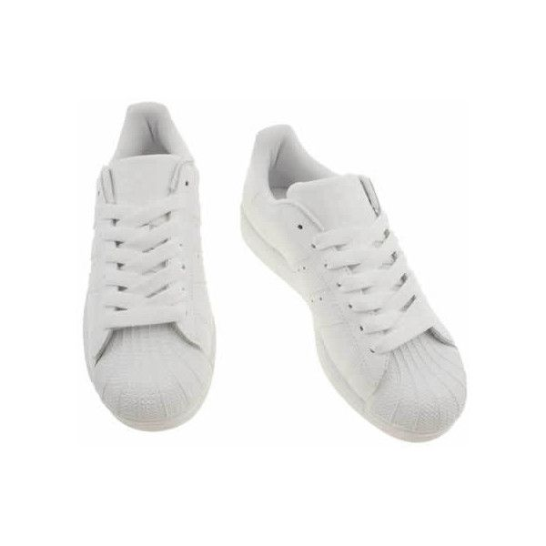 Women's White Adidas Superstar 2 Trainers   schuh (£62) ❤ liked on Polyvore featuring shoes, sneakers, adidas trainers, adidas, adidas sneakers, white trainers and adidas shoes