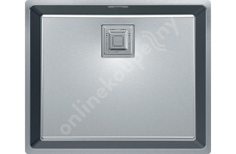 Franke Centinox - Nerezový dřez CMX 110-50, 530x440 mm, sifon 122.0286.535