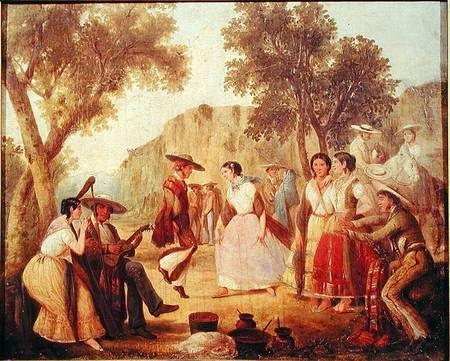 DANZA POPULAR MEJICANA  Mexican School (18th Century) - A Popular Dance, Museo Nacional de Historia, Mexico City