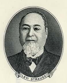 """Levi Strauss, partner in the invention of the  """"Blue Jeans"""" in 1873."""