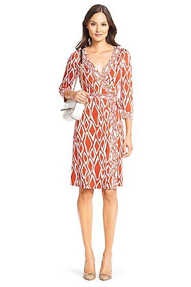 Banded Julian Silk Jersey Wrap Dress