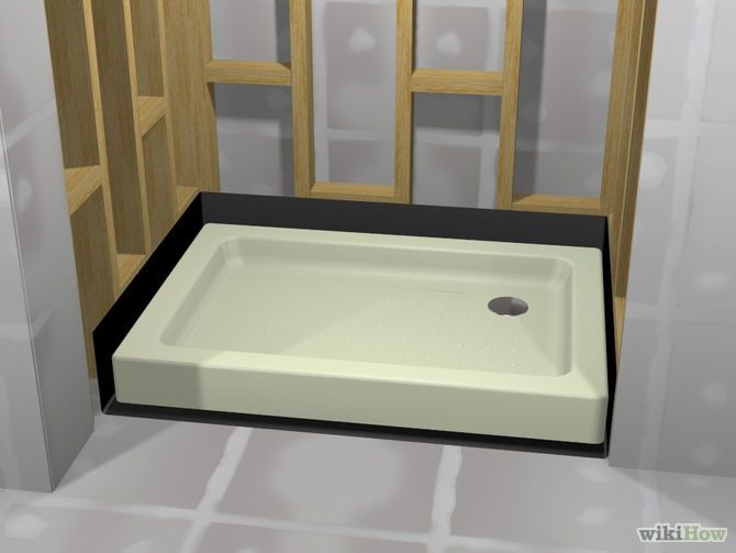 A wikihow on tiling a shower with a pan and step by step videos
