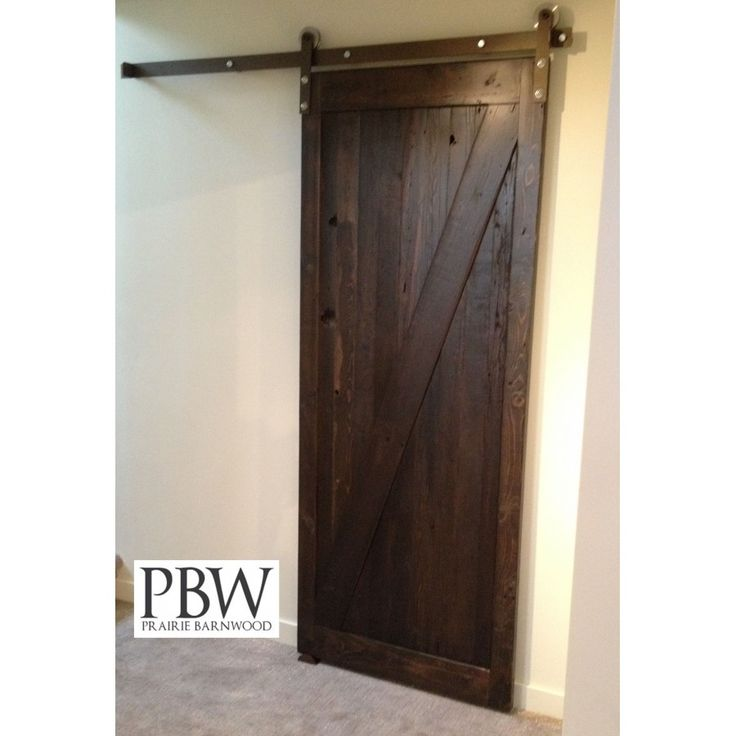 Prairie Barnwood Made Sliding Door Track Kit