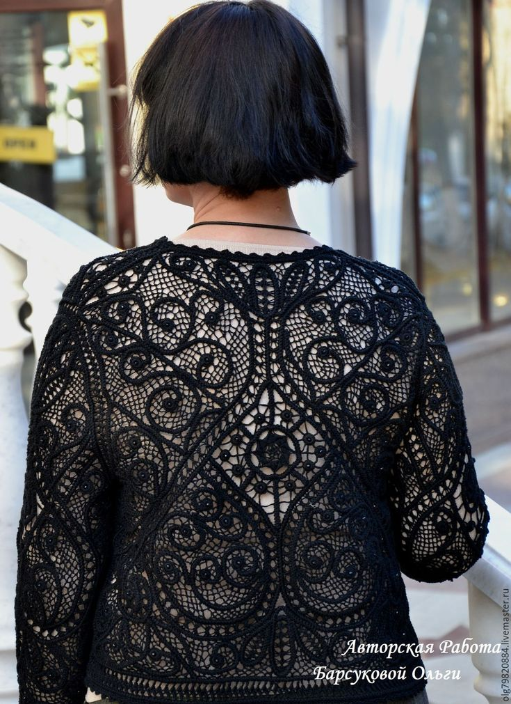 """Купить Кружевной авторский жакет """"Парижские тайны"""" - нарядные кружева, классический стиль, черное кружево"""