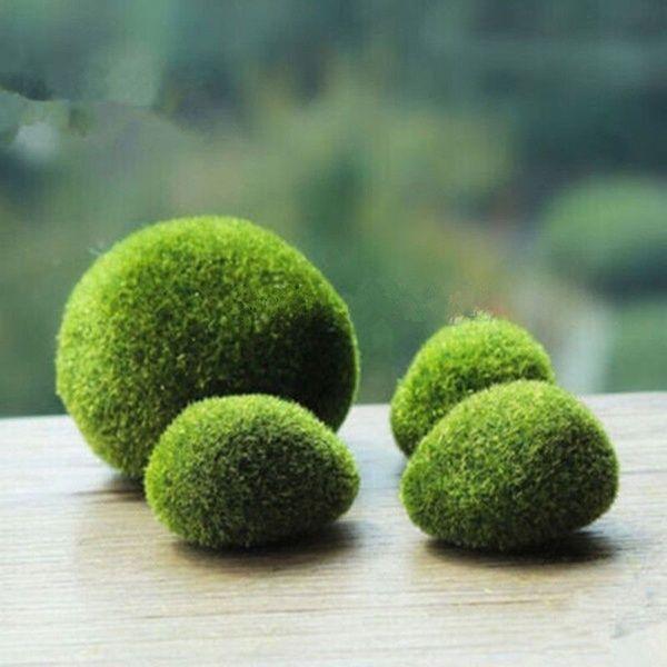 Marimo Moss Balls Artificial Grass Stones Turf Mini Fairy Garden