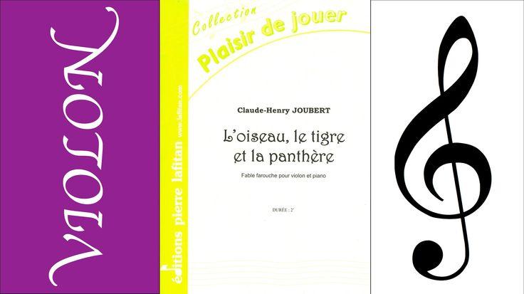 L'oiseau, le tigre et la panthère pour violon et piano de Claude-Henry ...