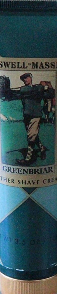 Caswell-Massey Greenbriar Lather Shave Cream Tube 3.5 Oz  new