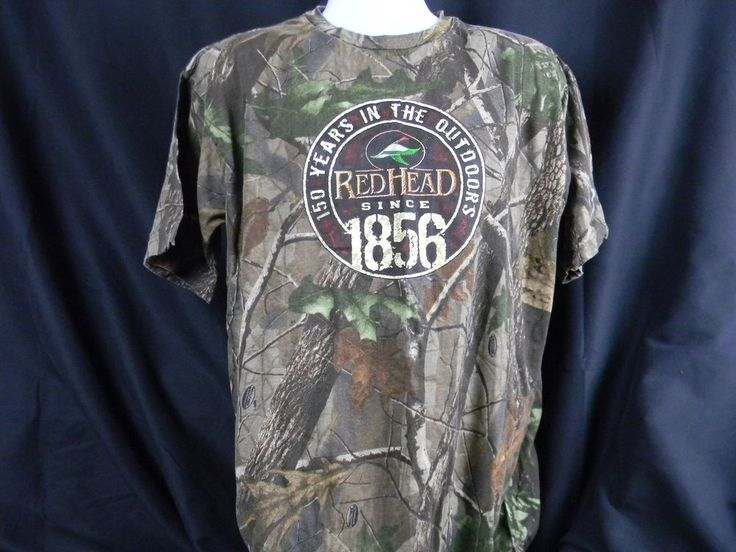 RedHead Camouflage Duck Decoy Hunting T shirt 150 Years In The Outdoors Large  | eBay