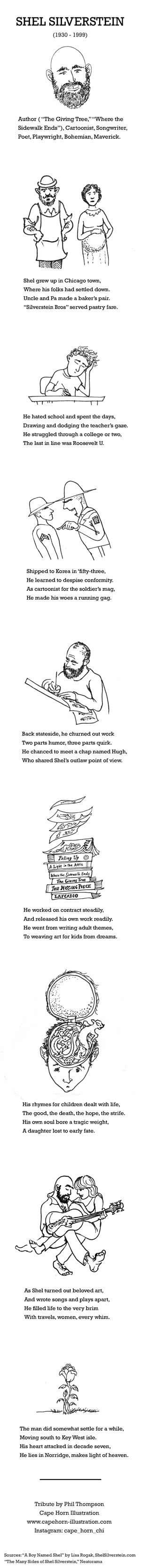 Shel Silverstein illustrated biography
