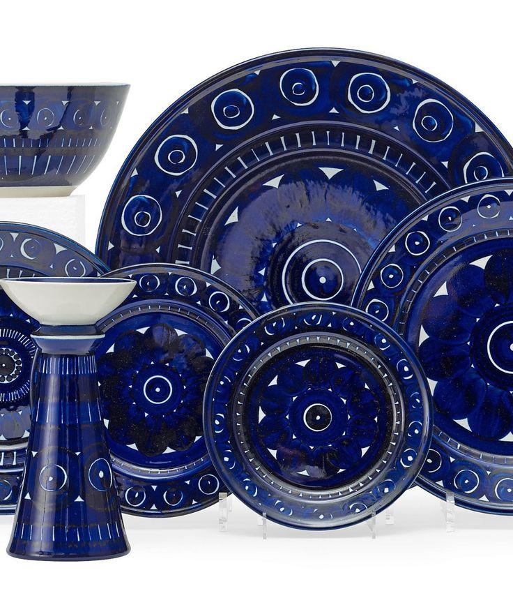 ULLA PROCOPÉ, Valencia table ware by Arabia Oy, Finland, 1960. Stone ware. / Bukowskis