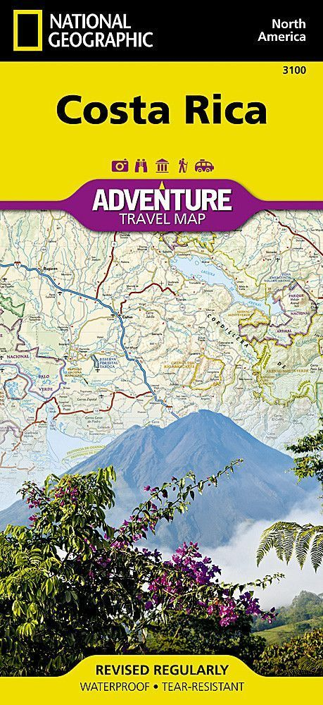 Costa Rica Adventure Map 3100 by National Geographic Maps