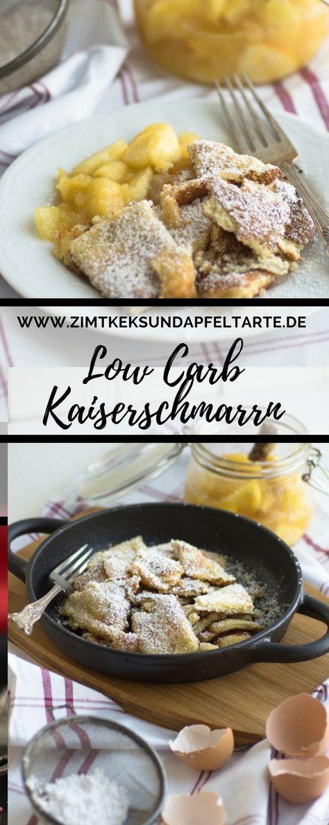 Super lecker, einfaches Rezept: Low Carb Kaiserschmarrn mit leckerem Apfelkompott. Glutenfrei und schnell gemacht! #lowcarb #glutenfrei #kaiserschmarrn
