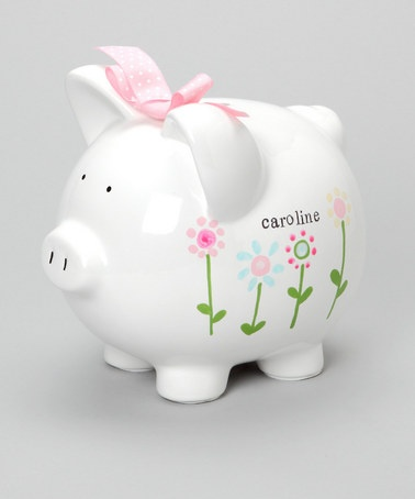 cutest personalized piggy bank