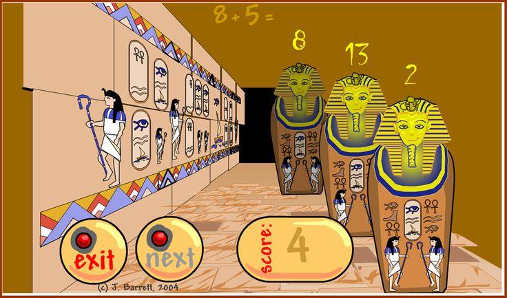 sčítanie a múmia http://ictgames.com/funkymum.html
