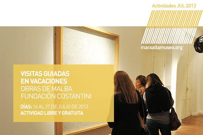 Actividad: Visitas guiadas para Niños   En el marco de la exposición -Relatos Latinoamericanos - Obras de Malba - Fundación Costantini   Días: Martes a Viernes + info: https://www.facebook.com/notes/museo-de-arte-contempor%C3%A1neo-de-salta-mac/disfruta-de-las-vacaciones-de-invierno-en-el-macsa/543995535636674