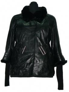 Куртка черная (гладкая кожа)