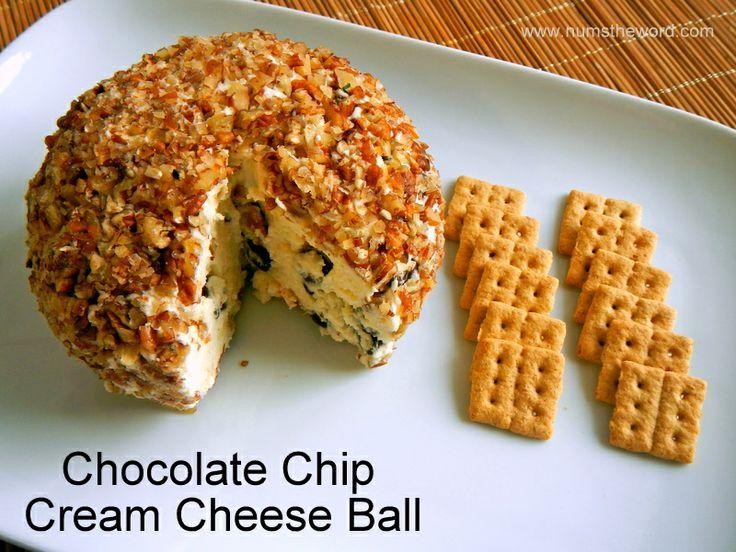 the word: chocolate chip cream cheese ball - a dessert cheese ball ...