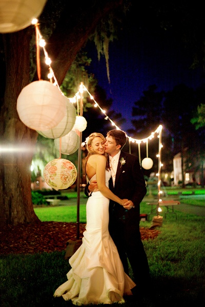 Love the lanterns and lights