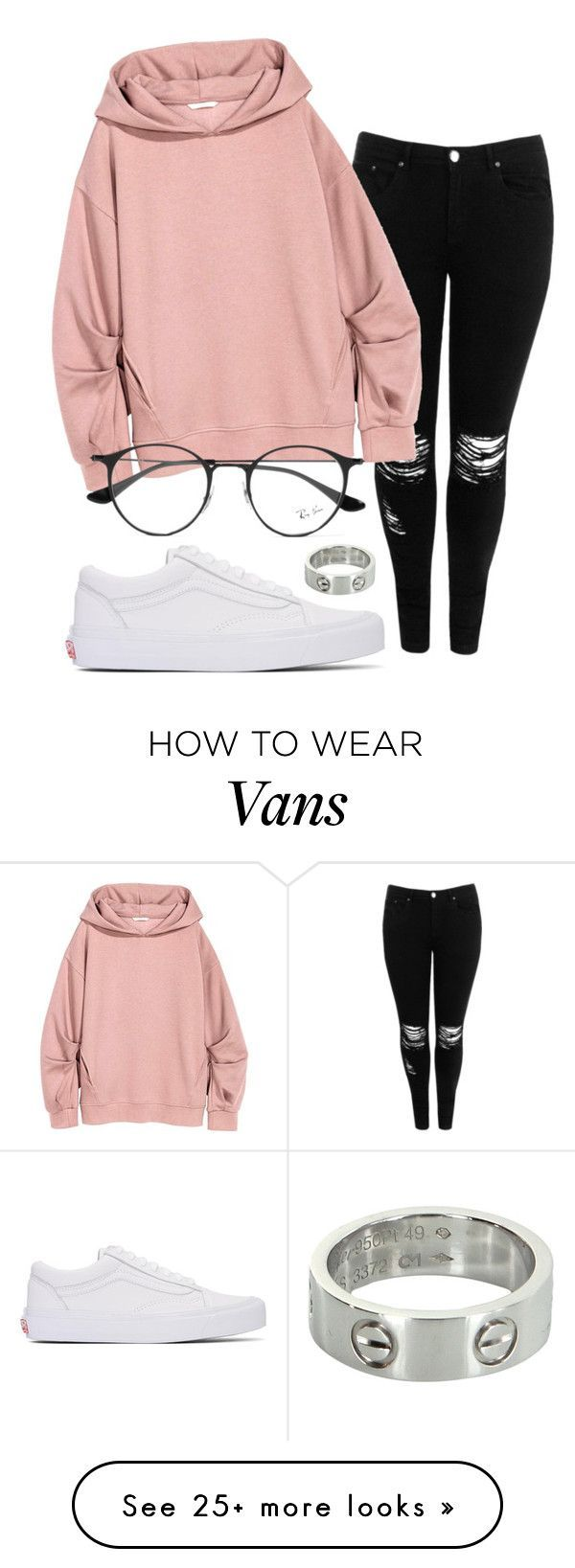 """""""#No name"""" by eemaj on Polyvore featuring Vans, Boohoo, Ray-Ban and Cartier"""