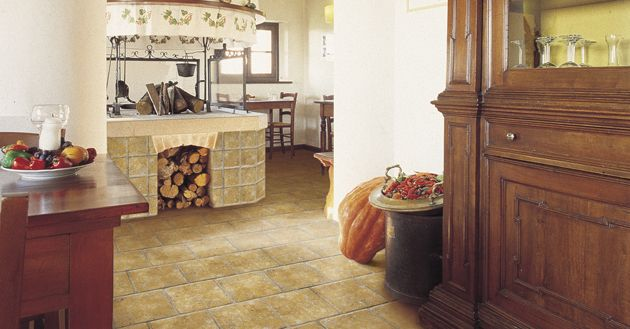 Warm and rustic is always in style. #natural #colortile #kitchentiles #rustickitchen #rusticlook #sydneytiles