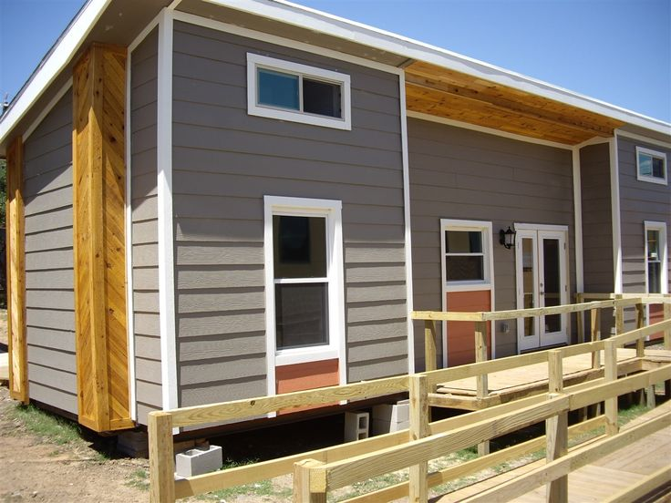 ada shipping container tiny home was built by students at the construction careers academy at northside independent school district in san antonio texas - Small Home Construction