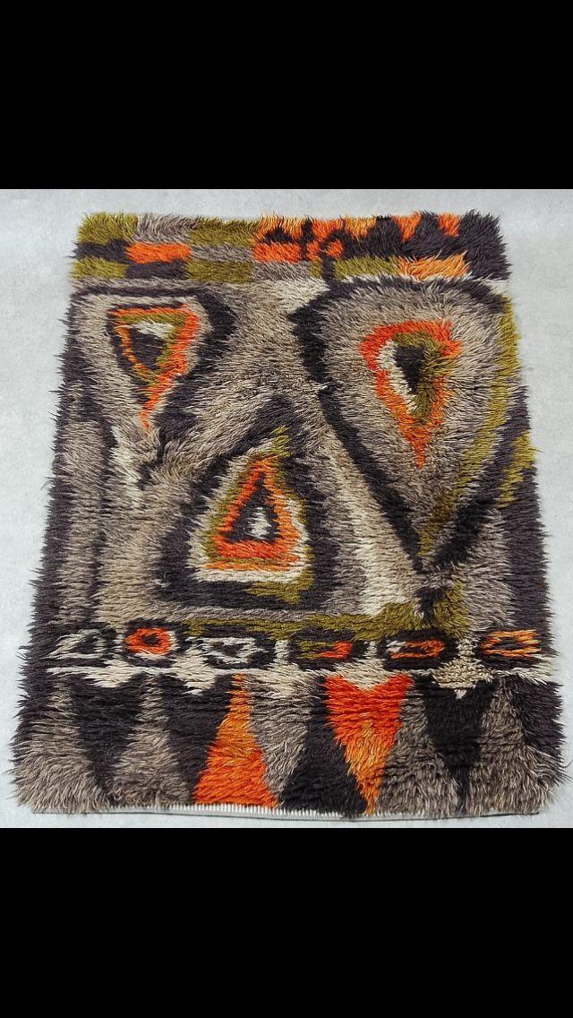 Swedish rug 1960's #rya #rug