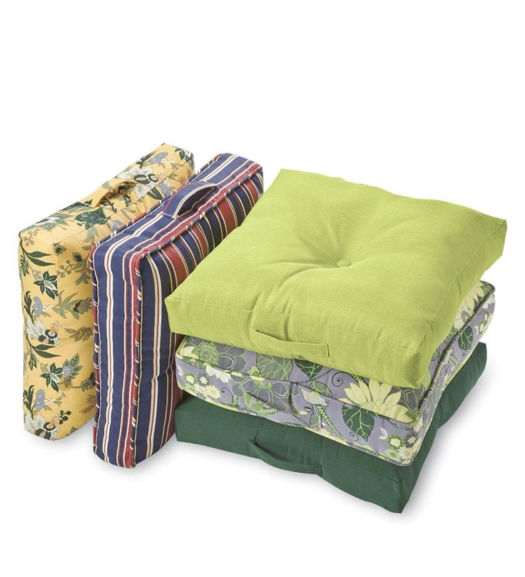 Outdoor Floor Cushion With Handle Easy Extra Seating In