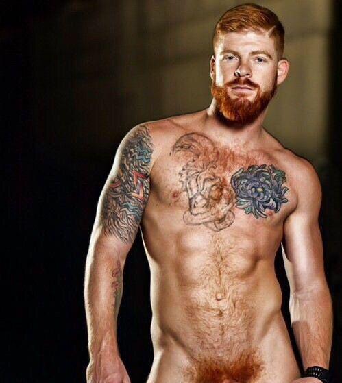 ginger bearded men naked