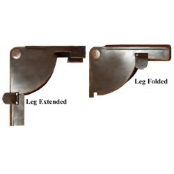 Folding Table Leg Brackets Used On Card Tables Enabling Table Legs To Fold  Up Against Table Tops.