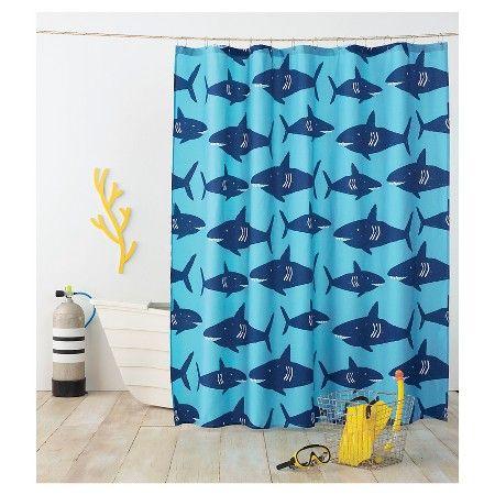 Shark Shower Curtain Deep Navy   Pillowfort. Best 25  Shark bathroom ideas on Pinterest   Shark room  Shark