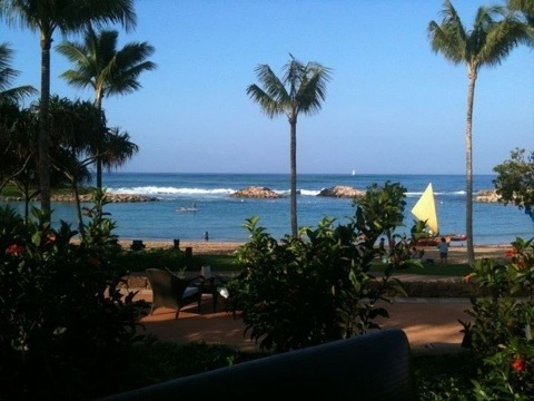 Aulani restaurant view at breakfast - worth every penny!