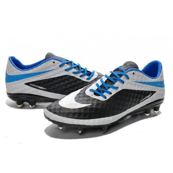 Nike HyperVenom Phantom FG Football Cleats- Black White Blue