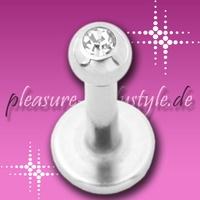 Lippen-Piercing *Madonna* mit dezenten Kristall