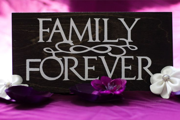 Family Forever Wood Sign by DazzlingCreationsCA on Etsy