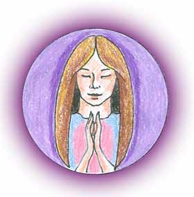 Namaste can be used at the beginning of your meditation to help you go deeper into your divine heart center.  By bringing the hands together at the heart chakra you access the flow of divine love and bowing your head and closing your eyes the mind will more easily let go to the diving spirt of your heart.