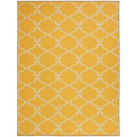 Attractive Sweethome Stores Clifton Collection Moroccan Geometric Trellis Design  Living And Bedroom Area Rugs, Yellow
