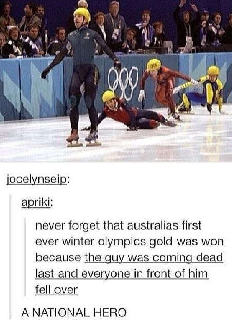 The truth about that gold medal.   22 Important Lessons From Tumblr About Australia