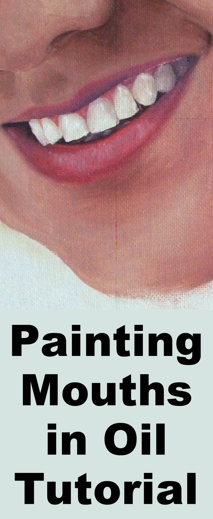 Learn how to paint a realistic mouth with this oil painting tutorial
