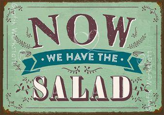 Now we have the salad - Postkarte - Grafik Werkstatt Bielefeld