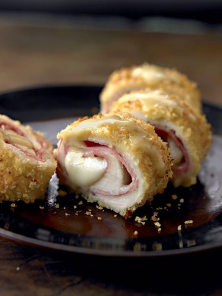 Lower calorie Chicken Cordon Bleu...It's French in name, but it feels American, right down to its molten cheese core.