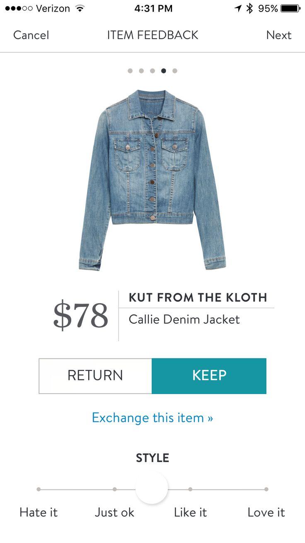 Kut from the Kloth denim jacket stitch fix