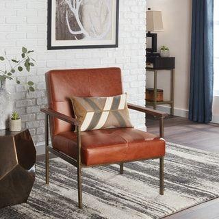 Retro Steel Tan Leather Armchair