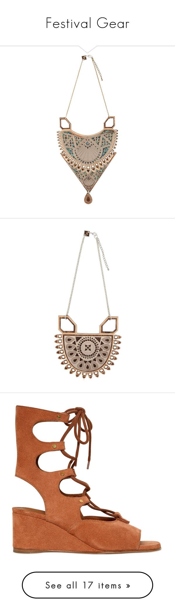 """""""Festival Gear"""" by luisaviaroma ❤ liked on Polyvore featuring jewelry, necklaces, rose, adjustable necklace, wooden necklaces, wooden chain necklace, adjustable chain necklace, wood chain necklace, bags and handbags"""