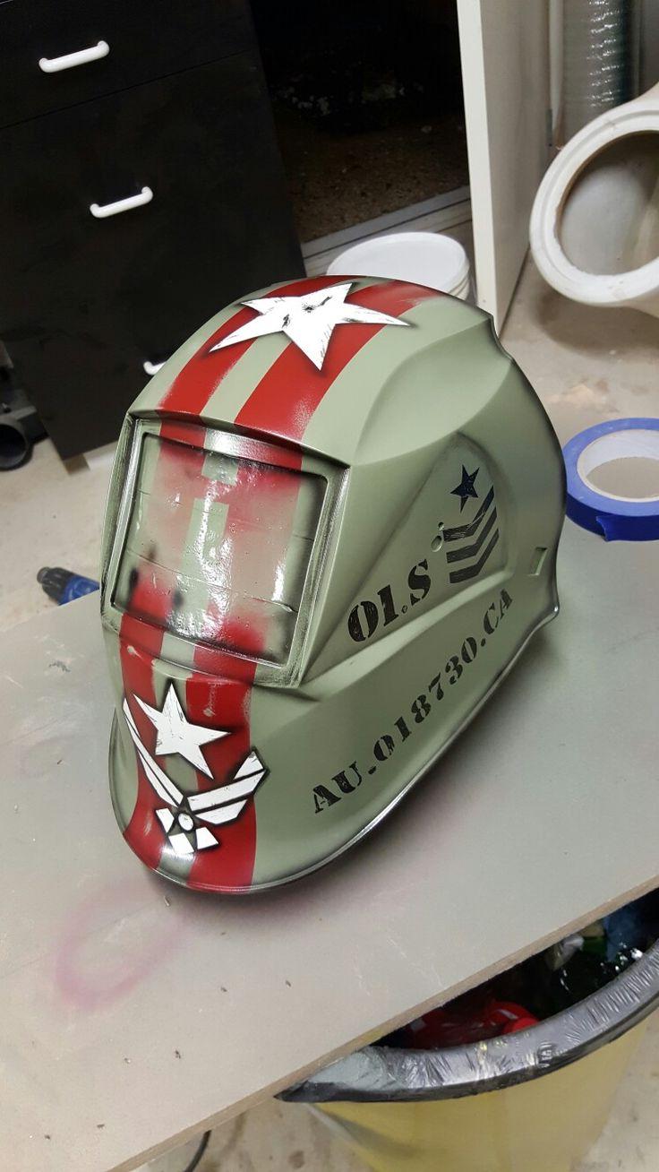 Custom Welding helmet airbrush... Army